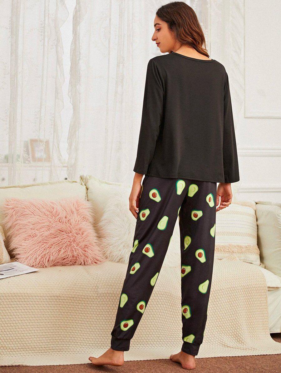 Avocado Black Pajama 2
