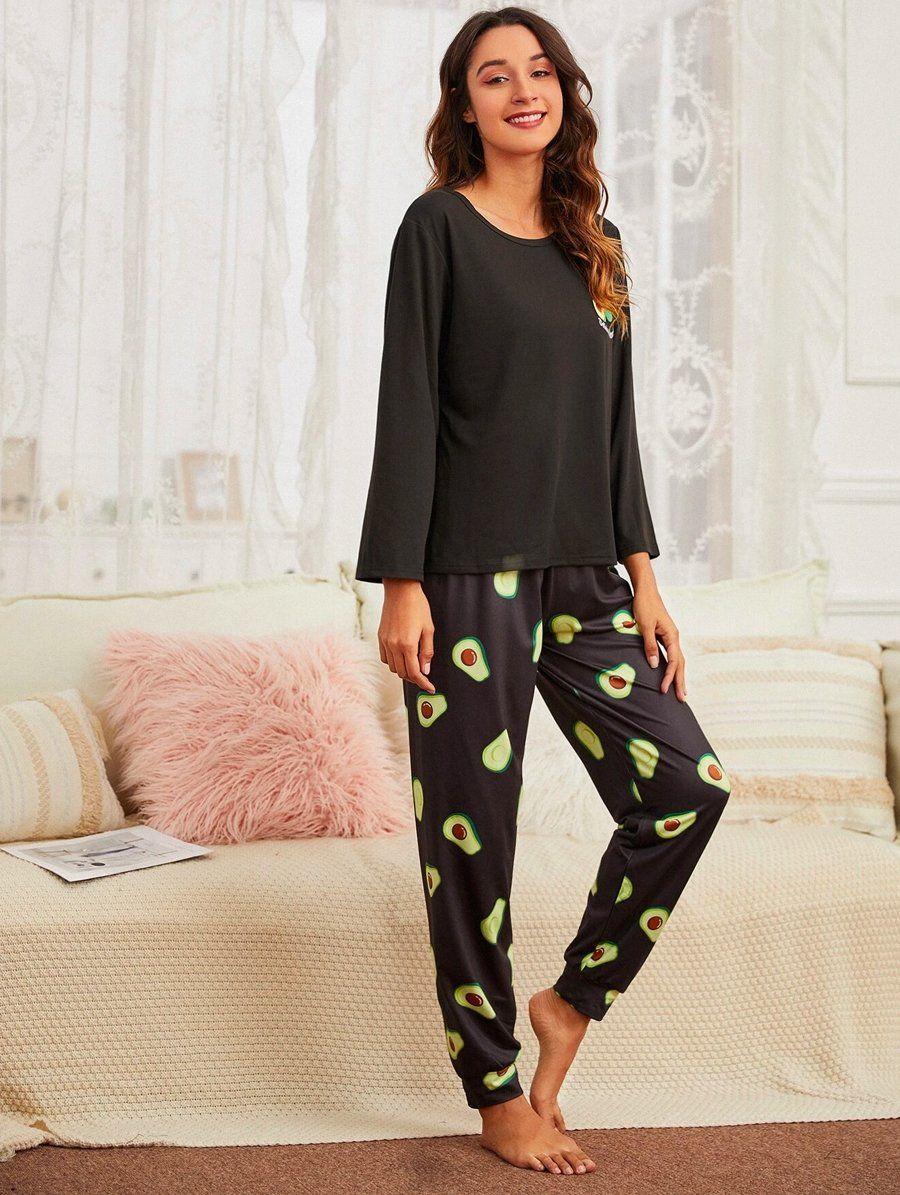 Avocado Black Pajama 5